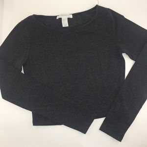 Forever 21 long sleeve cropped tee
